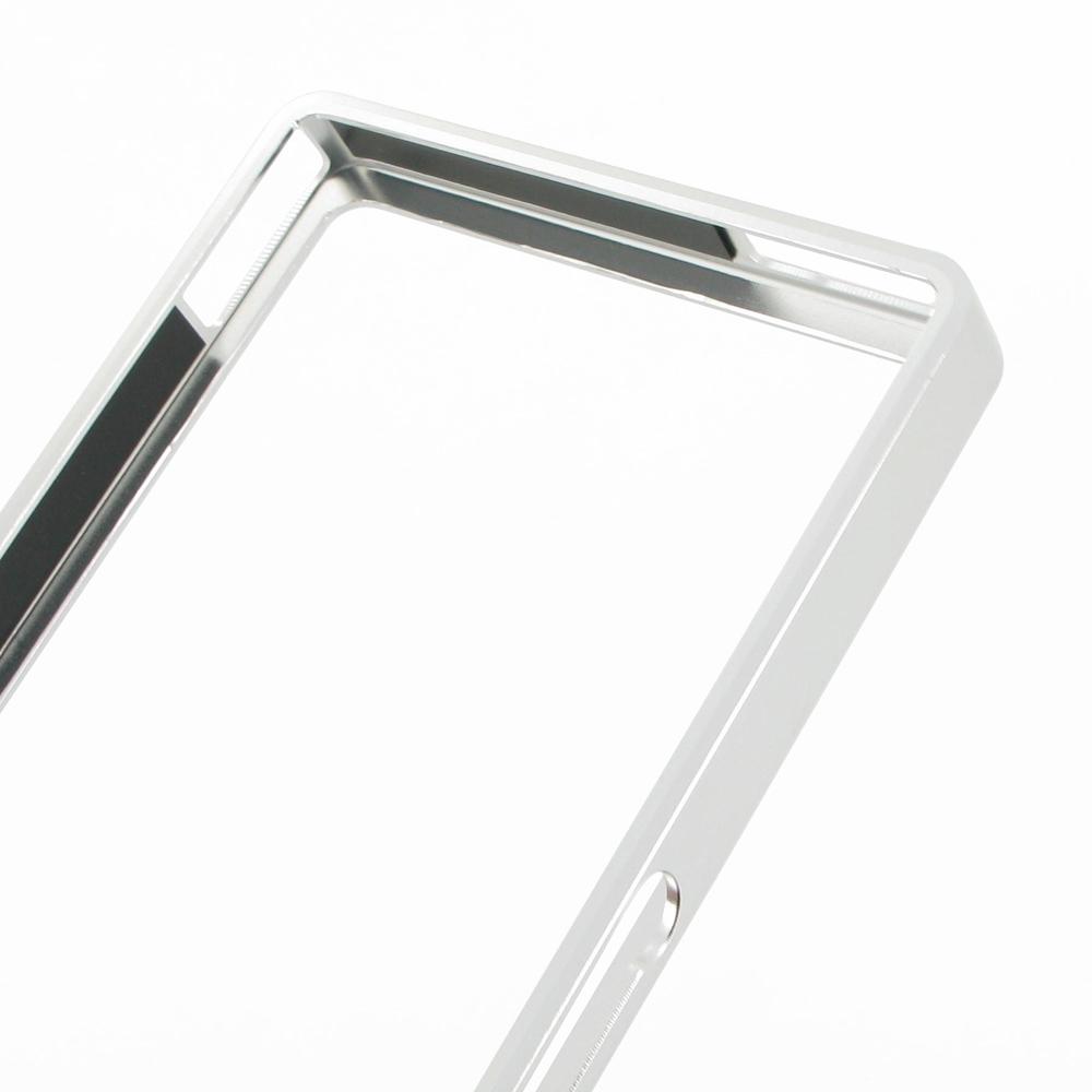 Sony Xperia Z Aluminum Metal Bumper Case (Silver) :: PDair ...