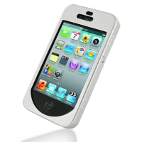 Metal Shell Shield Case for Apple iPhone 4 | iPhone 4s (Silver)