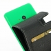 Microsoft Lumia 535 Leather Flip Carry Case genuine leather case by PDair