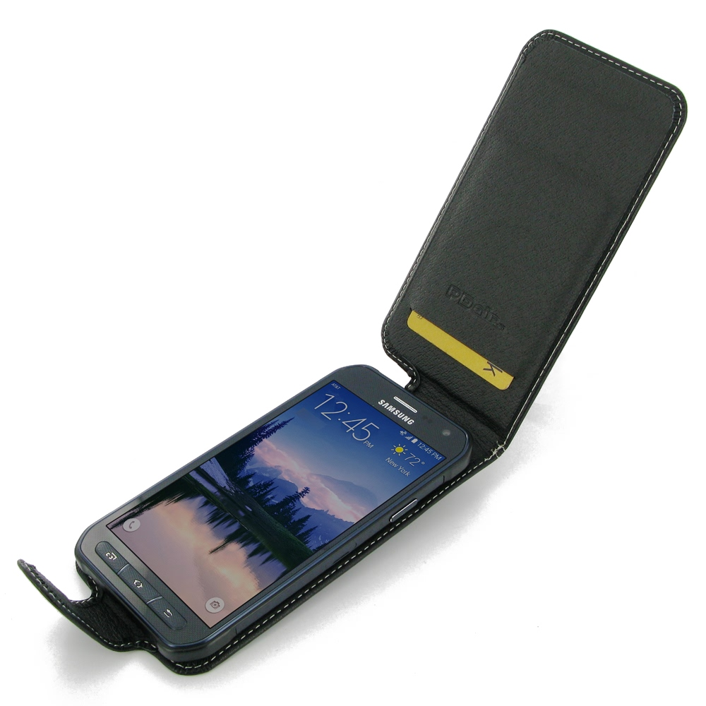 samsung galaxy s6 active leather flip carry case pdair. Black Bedroom Furniture Sets. Home Design Ideas