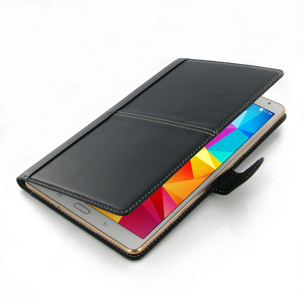 samsung galaxy tab s 8 4 leather smart flip carry cover. Black Bedroom Furniture Sets. Home Design Ideas