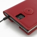 BlackBerry Passport Leather Flip Carry Cover (Red) protective carrying case by PDair