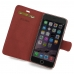 iPhone 6 6s Plus Leather Flip Carry Cover (Red) top quality leather case by PDair