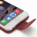 iPhone 6 6s Plus Leather Flip Carry Case (Red) genuine leather case by PDair