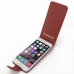 iPhone 6 6s Plus Leather Flip Carry Case (Red) top quality leather case by PDair