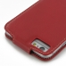 iPhone 6 6s Plus Leather Flip Top Carry Case (Red) protective carrying case by PDair