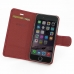 iPhone 6 6s Leather Flip Carry Cover (Red) top quality leather case by PDair