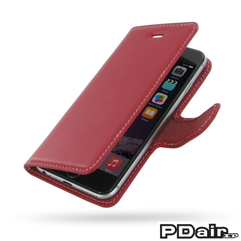 IPhone 6 6s Leather Flip Carry Cover Red PDair Wallet