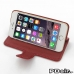 iPhone 6 6s Leather Smart Flip Cover (Red) Wide selection of colors and patterns. by PDair