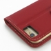 iPhone 6 6s Leather Smart Flip Cover (Red) protective carrying case by PDair