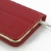 iPhone 6 6s Leather Smart Flip Cover (Red) handmade leather case by PDair