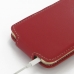 iPhone 6 6s Leather Flip Carry Case (Red) protective carrying case by PDair