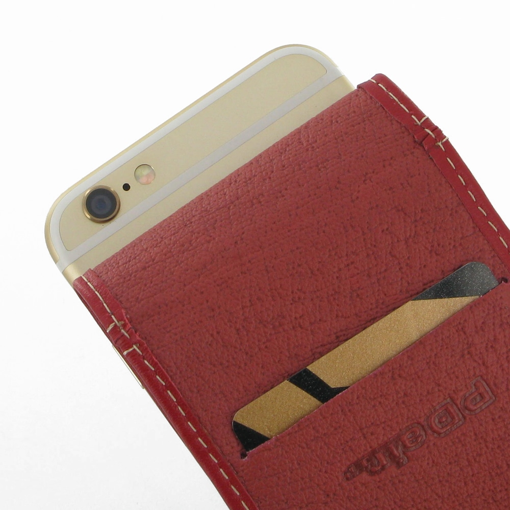 iphone 6 6s leather flip carry case red pdair wallet. Black Bedroom Furniture Sets. Home Design Ideas