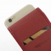 iPhone 6 6s Leather Flip Carry Case (Red) handmade leather case by PDair