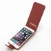 iPhone 6 6s Leather Flip Carry Case (Red) top quality leather case by PDair