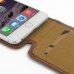 iPhone 6 6s Plus Leather Flip Top Carry Case (Brown) genuine leather case by PDair