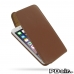 iPhone 6 6s Plus Leather Flip Top Carry Case (Brown) best cellphone case by PDair