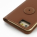 iPhone 6 6s Leather Flip Carry Cover (Brown) protective carrying case by PDair