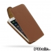 iPhone 6 6s Leather Flip Top Carry Case (Brown) best cellphone case by PDair