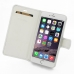 iPhone 6 6s Plus Leather Flip Carry Cover (White) top quality leather case by PDair