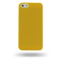 Plastic Hard Case for Apple iPhone 5 | iPhone 5s (Yellow Perforated Pattern)