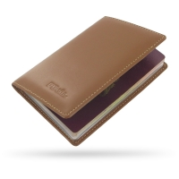 Protective Leather Passport Holder/Travel Wallet Case (Brown)