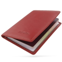 Travel Passport Leather Wallet Holder Case (Red) PDair Premium Hadmade Genuine Leather Protective Case Sleeve Wallet