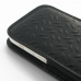 iPhone 5c Leather Sleeve Pouch Case (Black Metal Pattern) handmade leather case by PDair