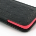iPhone 5c (in Slim Cover) Pouch Case (Black Metal Pattern) protective carrying case by PDair