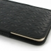 iPhone 6 6s Plus Leather Sleeve Pouch Case (Black Metal Pattern) protective carrying case by PDair