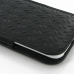 iPhone 6 6s (in Slim Cover) Pouch Case (Black Metal Pattern) handmade leather case by PDair