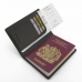 Travel Passport Leather Wallet Holder Case (Brown Metal Pattern) genuine leather case by PDair