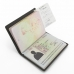 Travel Passport Leather Wallet Holder Case (Brown Metal Pattern) offers worldwide free shipping by PDair