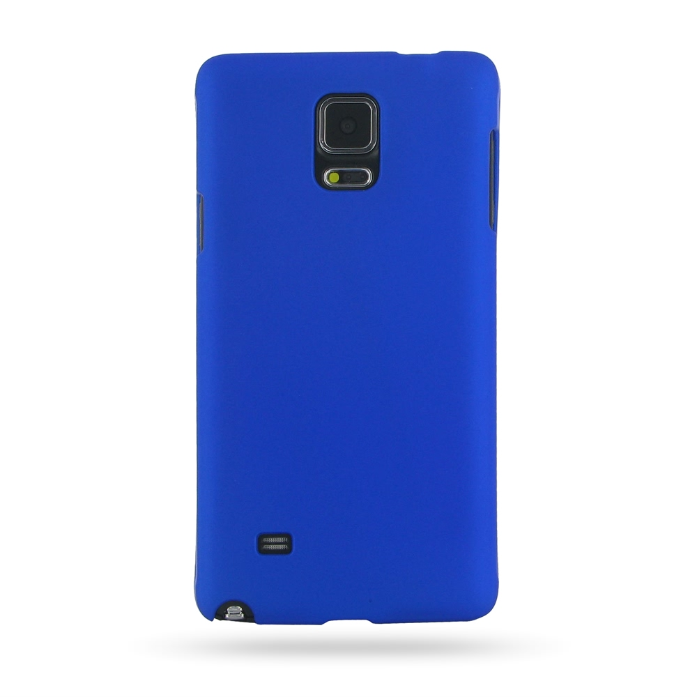 samsung galaxy note 4 rubberized hard cover blue pdair 10 off. Black Bedroom Furniture Sets. Home Design Ideas