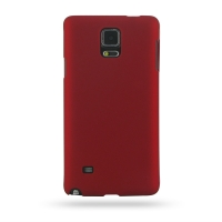 Rubberized Hard Cover for Samsung Galaxy Note 4 | Samsung Galaxy Note4 | SM-N910 (Red)