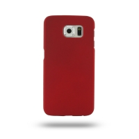 Rubberized Hard Cover for Samsung Galaxy S6 (Red)