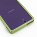 Sony Xperia Z Aluminum Metal Bumper Case (Green) protective carrying case by PDair