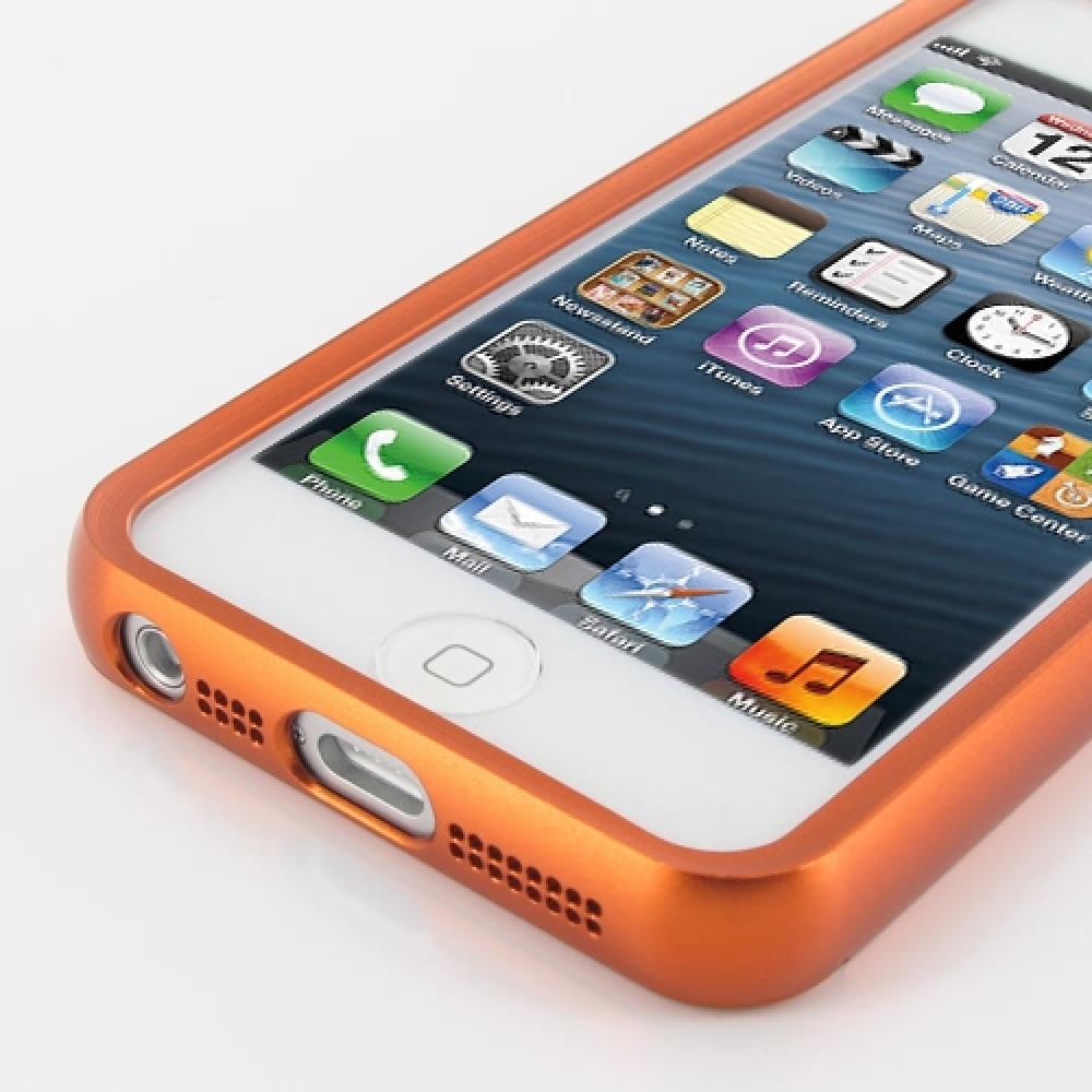 iphone 5 5s aluminum metal bumper case orange pdair. Black Bedroom Furniture Sets. Home Design Ideas