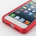 iPhone 5 5s Aluminum Metal Bumper Case (Red) handmade leather case by PDair