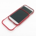 Samsung Galaxy S4 Aluminum Metal Bumper Case (Red) top quality leather case by PDair