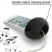 iPhone 4 4s Acoustic Amplifier (Black Ellipse) handmade leather case by PDair