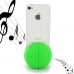 iPhone 4 4s Acoustic Amplifier (Green Basketball) protective carrying case by PDair