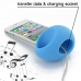 iPhone 4 4s Acoustic Amplifier (Light Blue Ellipse) handmade leather case by PDair