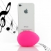 iPhone 4 4s Acoustic Amplifier (Petal Pink Ellipse) protective carrying case by PDair