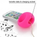 iPhone 4 4s Acoustic Amplifier (Petal Pink Ellipse) handmade leather case by PDair