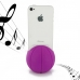 iPhone 4 4s Acoustic Amplifier (Purple Basketball) protective carrying case by PDair