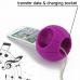 iPhone 4 4s Acoustic Amplifier (Purple Basketball) custom degsined carrying case by PDair