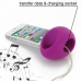 iPhone 4 4s Acoustic Amplifier (Purple Ellipse) handmade leather case by PDair