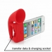 iPhone 4 4s Acoustic Amplifier (Red Horn) custom degsined carrying case by PDair