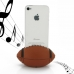 iPhone 4 4s Acoustic Amplifier (Brown Rugby) protective carrying case by PDair